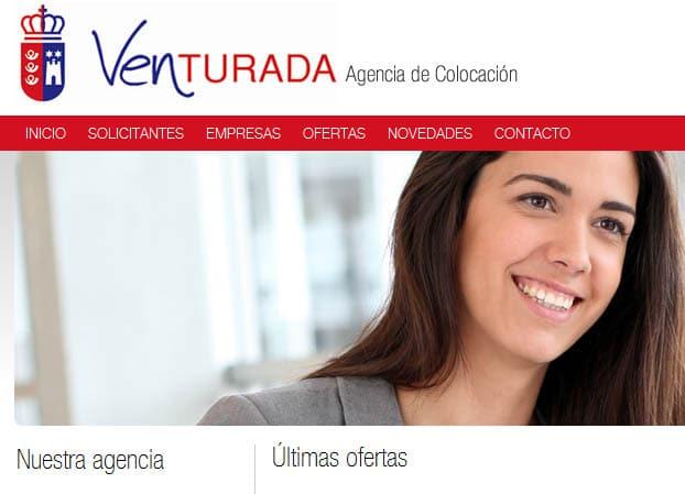 Web de la Agencia de Colocación de Venturada
