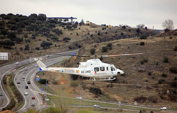 Helicóptero del SUMMA en Venturada
