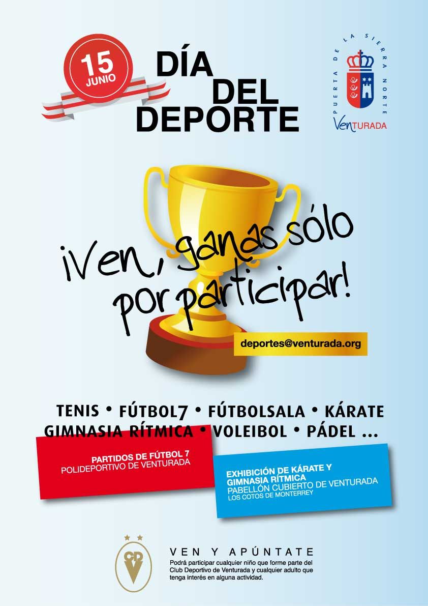 Cartel día del deporte 2013