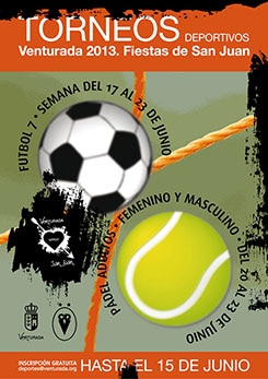 Cartel Torneos Deportivos San Juan 2013