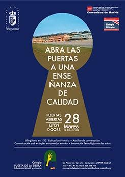Cartel día puertas abiertas Colegio Venturada