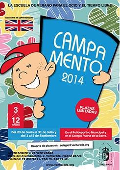 Cartel Camapmento Verano 2014