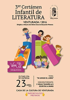 Cartel concurso literatura infantil de Venturada 2016