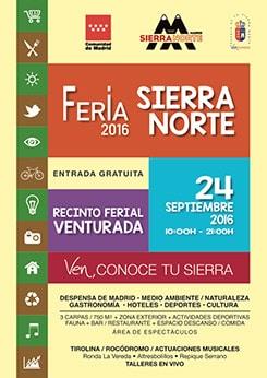 Cartel Feria Sierra Norte 2016