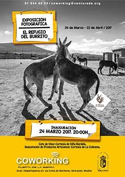 Cartel exposición El Refugio del Burrito